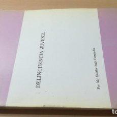 Libros de segunda mano: DELINCUENCIA JUVENIL - Mª EULALIA RUIZ FERNANDEZ - ESTUDIO PSICOLOGICO SOCIOFAMILIARK405. Lote 195190073