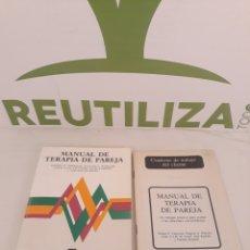Libros de segunda mano: MANUAL DE TERAPIA DE PAREJA.BIBLIOTECA DE PSICOLOGIA.. Lote 195210205