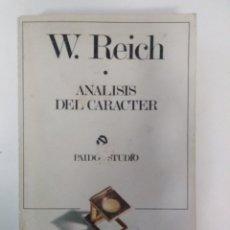 Libros de segunda mano: ANÁLISIS DEL CARÁCTER / WILHELM REICH. Lote 195213837