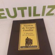 Libros de segunda mano: TECNICAS DE TERAPIA FAMILIAR.PAIDOS.. Lote 195214030