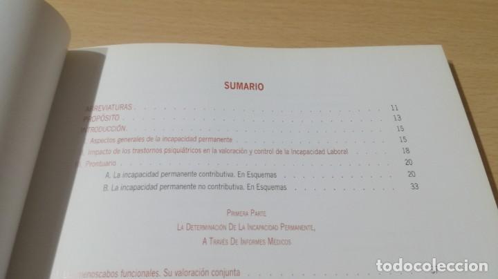 Libros de segunda mano: SOPORTE LEGAL JURISPRUDENCIAL INCAPACIDADES TRANSTORNOS MENTALES COMPORTAMIENTO/ PSIQUIATRIAK503 - Foto 11 - 195232546