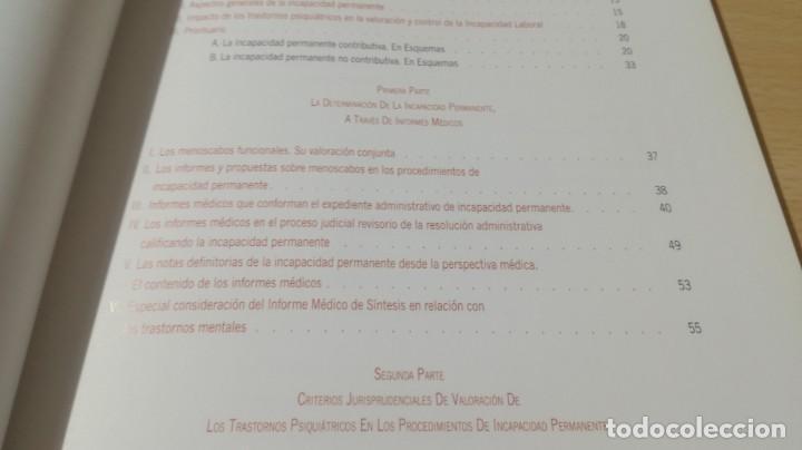 Libros de segunda mano: SOPORTE LEGAL JURISPRUDENCIAL INCAPACIDADES TRANSTORNOS MENTALES COMPORTAMIENTO/ PSIQUIATRIAK503 - Foto 12 - 195232546