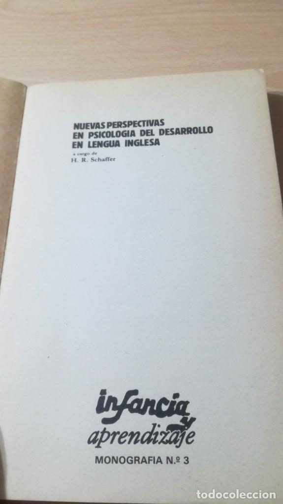 Libros de segunda mano: NUEVAS PERSPECTIVAS PSICOLOGIA DEL DESARROLLO EN LENGUA INGLESA H R SCHAFFER/ PSIQUIATRIAK503 - Foto 5 - 195233562