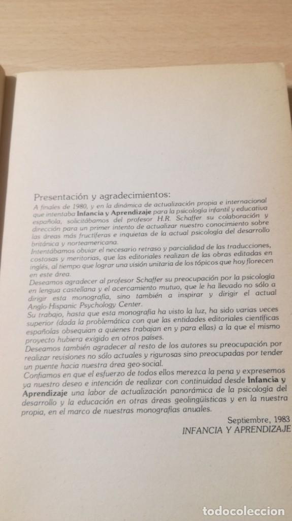 Libros de segunda mano: NUEVAS PERSPECTIVAS PSICOLOGIA DEL DESARROLLO EN LENGUA INGLESA H R SCHAFFER/ PSIQUIATRIAK503 - Foto 10 - 195233562