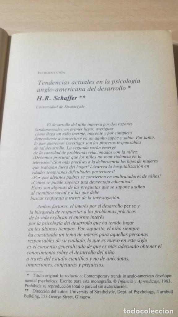 Libros de segunda mano: NUEVAS PERSPECTIVAS PSICOLOGIA DEL DESARROLLO EN LENGUA INGLESA H R SCHAFFER/ PSIQUIATRIAK503 - Foto 11 - 195233562