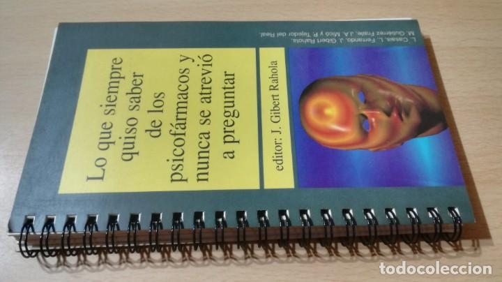 LO QUE SIEMPRE QUISO SABER DE LOS PSICOFARMACOS Y NUNCA SE ATREVIO A PREGUNTARK503 (Libros de Segunda Mano - Pensamiento - Psicología)