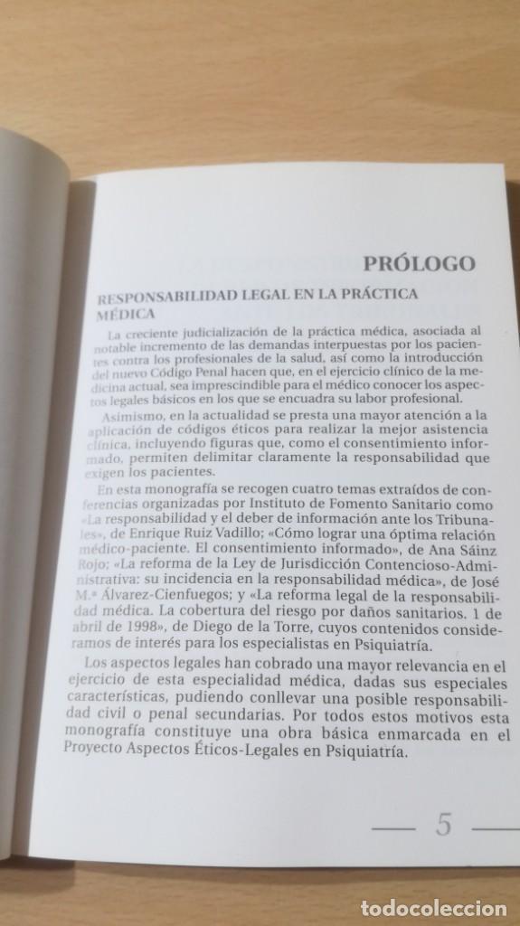 Libros de segunda mano: RESPONSABILIDAD LEGAL PRACTICA MEDICA - ASPECTOS ETICO LEGALES PSIQUIATRIAK503 - Foto 7 - 195234545