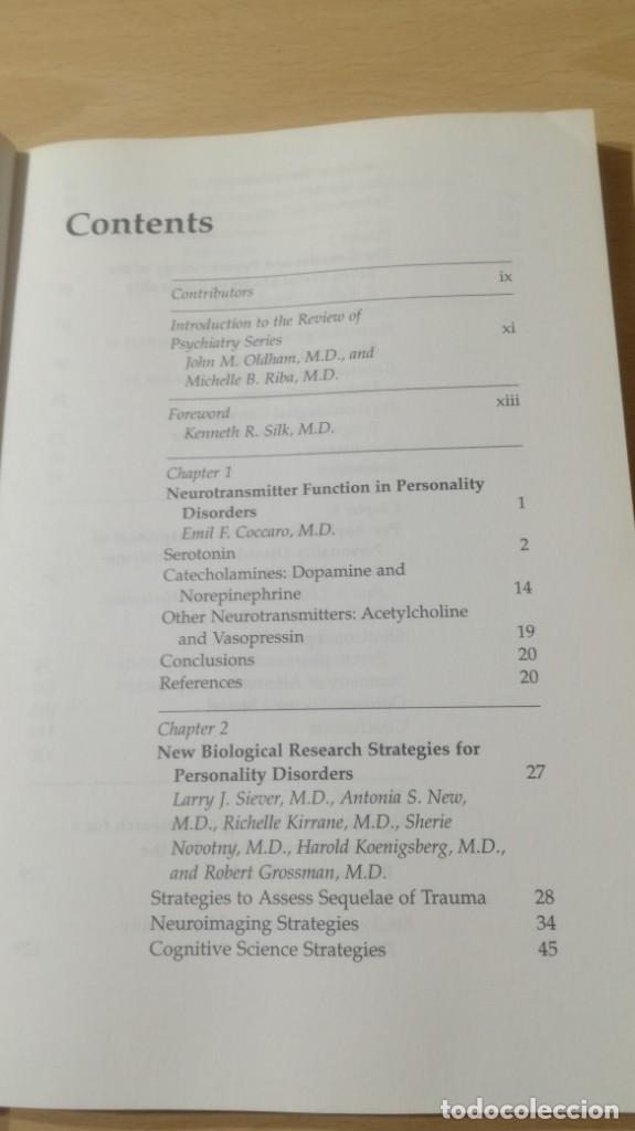 Libros de segunda mano: BIOLOGY OF PERSONALITY SISORDERS EN INGLES/ PSIQUIATRIAK503 - Foto 7 - 195234566