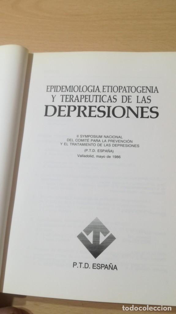 Libros de segunda mano: EPIDEMIOLOGIA Y TERAPEUTICAS DE LAS DEPRESIONES - P T D ESPAÑA/ PSIQUIATRIAK505 - Foto 3 - 195234818