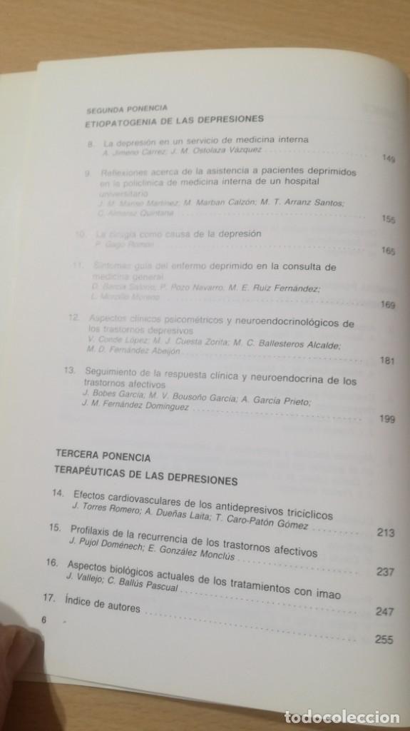 Libros de segunda mano: EPIDEMIOLOGIA Y TERAPEUTICAS DE LAS DEPRESIONES - P T D ESPAÑA/ PSIQUIATRIAK505 - Foto 7 - 195234818