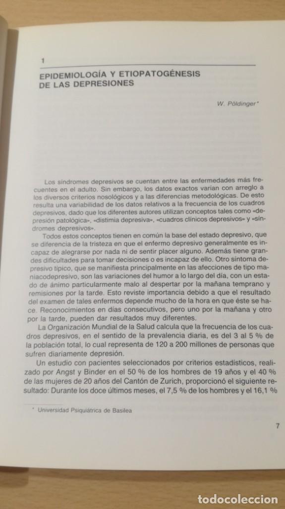 Libros de segunda mano: EPIDEMIOLOGIA Y TERAPEUTICAS DE LAS DEPRESIONES - P T D ESPAÑA/ PSIQUIATRIAK505 - Foto 8 - 195234818