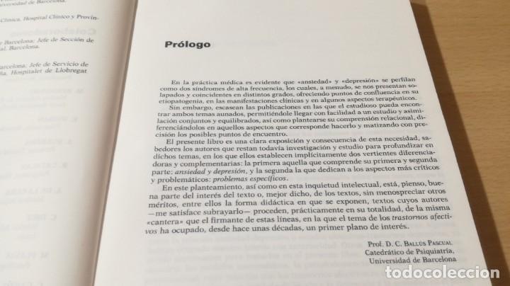 Libros de segunda mano: TRASTORNOS AFECTIVOS: ANSIEDAD Y DEPRESION - J VALLEJO - C GASTO - SALVAT/ PSIQUIATRIAK505 - Foto 9 - 195234865