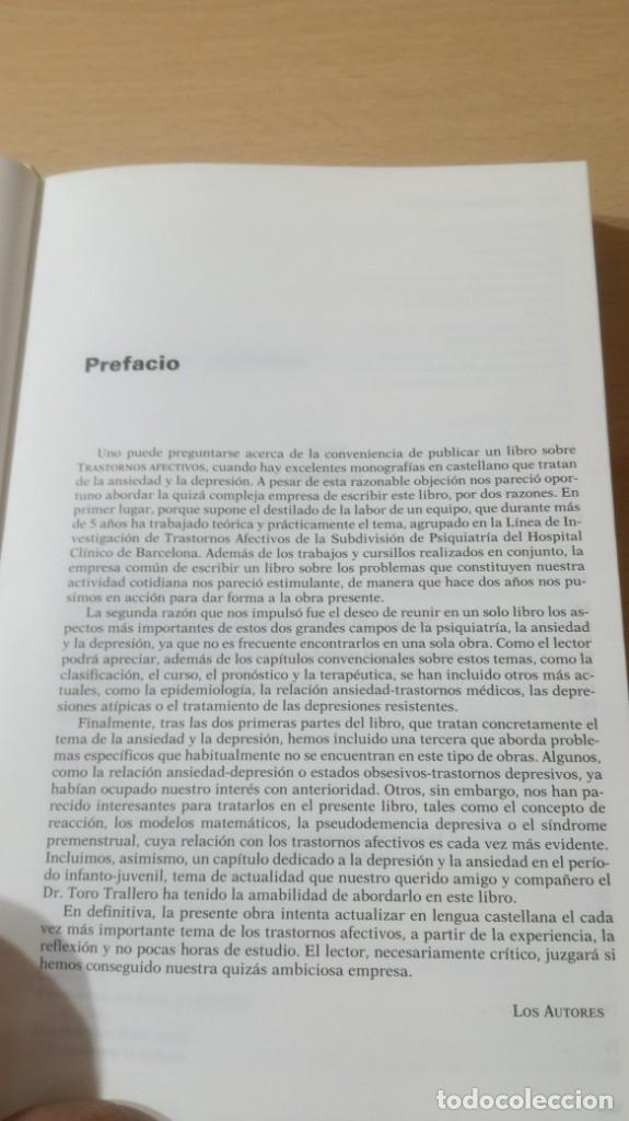 Libros de segunda mano: TRASTORNOS AFECTIVOS: ANSIEDAD Y DEPRESION - J VALLEJO - C GASTO - SALVAT/ PSIQUIATRIAK505 - Foto 10 - 195234865