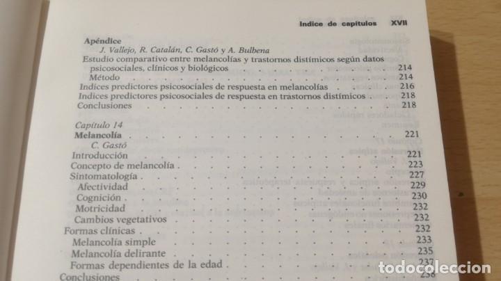 Libros de segunda mano: TRASTORNOS AFECTIVOS: ANSIEDAD Y DEPRESION - J VALLEJO - C GASTO - SALVAT/ PSIQUIATRIAK505 - Foto 22 - 195234865
