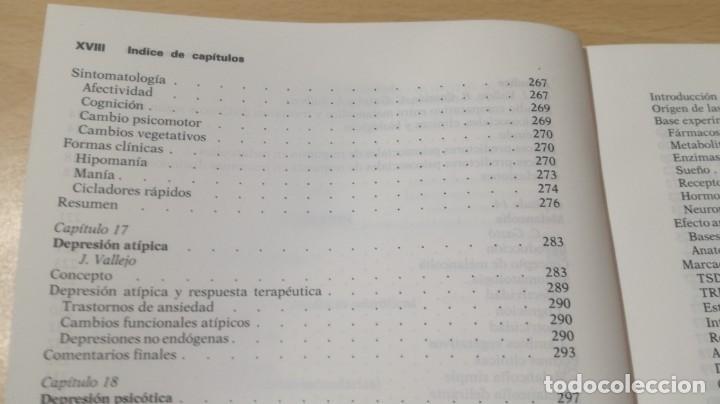 Libros de segunda mano: TRASTORNOS AFECTIVOS: ANSIEDAD Y DEPRESION - J VALLEJO - C GASTO - SALVAT/ PSIQUIATRIAK505 - Foto 25 - 195234865