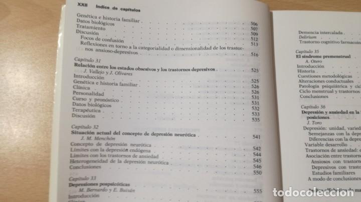 Libros de segunda mano: TRASTORNOS AFECTIVOS: ANSIEDAD Y DEPRESION - J VALLEJO - C GASTO - SALVAT/ PSIQUIATRIAK505 - Foto 35 - 195234865