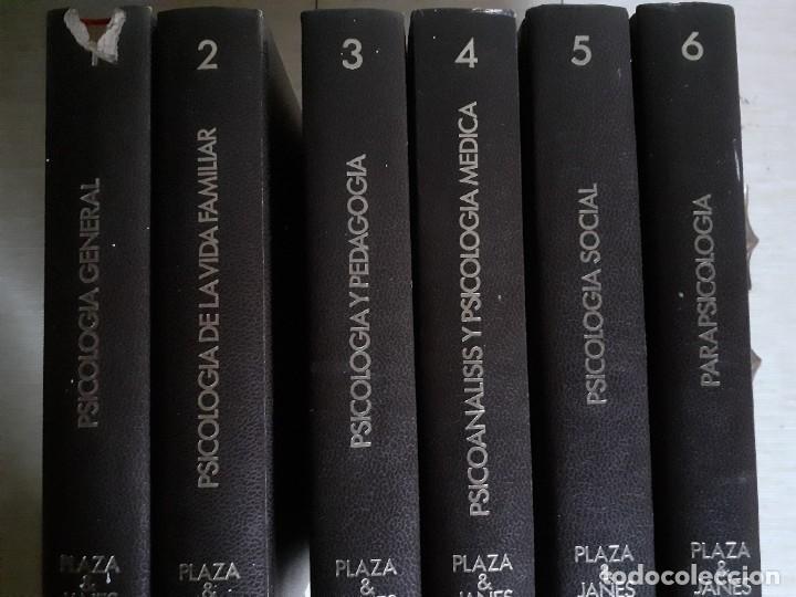 ENCICLOPEDIA DE LA PSICOLOGÍA PLAZA Y JANÉS - 6 TOMOS - INCOMPLETA A FALTA DE DOS (Libros de Segunda Mano - Pensamiento - Psicología)