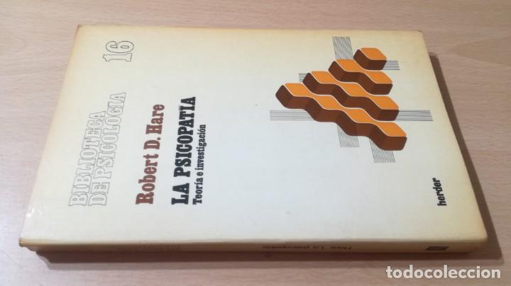 LA PSICOPATIA - TEORIA E INVESTIGACION- HERDERK505 (Libros de Segunda Mano - Pensamiento - Psicología)
