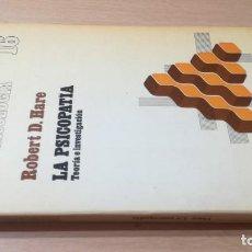 Libros de segunda mano: LA PSICOPATIA - TEORIA E INVESTIGACION- HERDERK505. Lote 195346810
