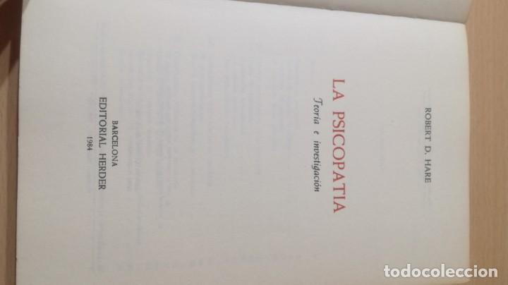 Libros de segunda mano: LA PSICOPATIA - TEORIA E INVESTIGACION- HERDERK505 - Foto 6 - 195346810