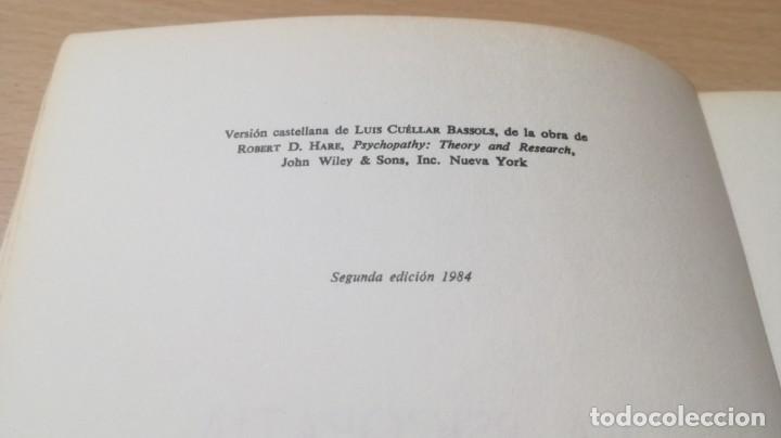Libros de segunda mano: LA PSICOPATIA - TEORIA E INVESTIGACION- HERDERK505 - Foto 7 - 195346810