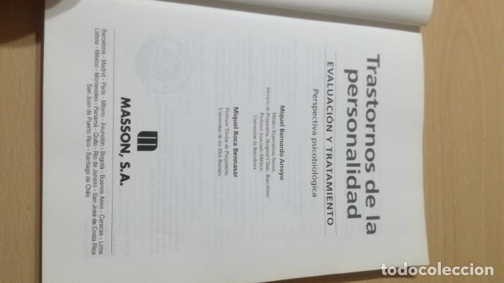 Libros de segunda mano: TRASTORNOS DE LA PERSONALIDAD - EVALUACION TRATAMIENTO - PERSPECTIVA PSICOBIOLOGICA - MASSONPSIQUIA - Foto 4 - 195385596
