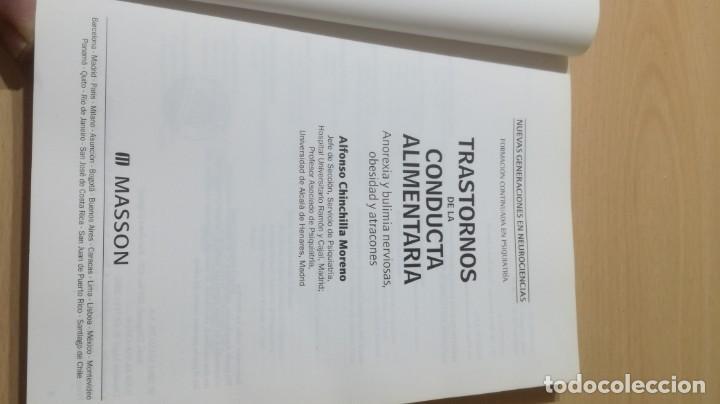 Libros de segunda mano: TRASTORNOS CONDUCTA ALIMENTARIA - ANOREXIA BULIMIA OBESIDAD ATRACONES MASSONPSIQUIATRIAK505 - Foto 4 - 195385967
