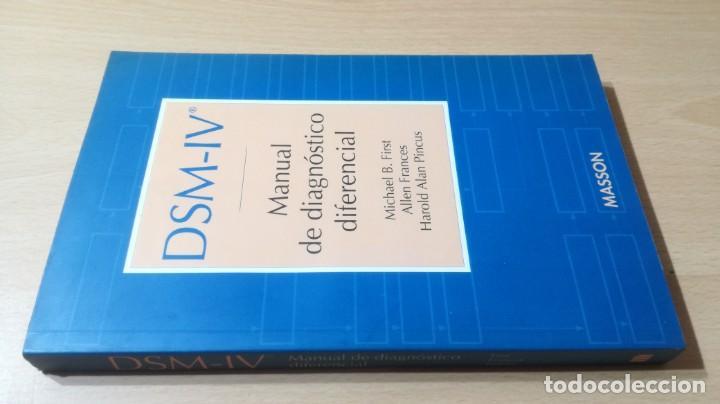 MANUAL DE DIAGNOSTICO DIFERENCIAL - DSM - IV -MASSONPSIQUIATRIAK505 (Libros de Segunda Mano - Pensamiento - Psicología)