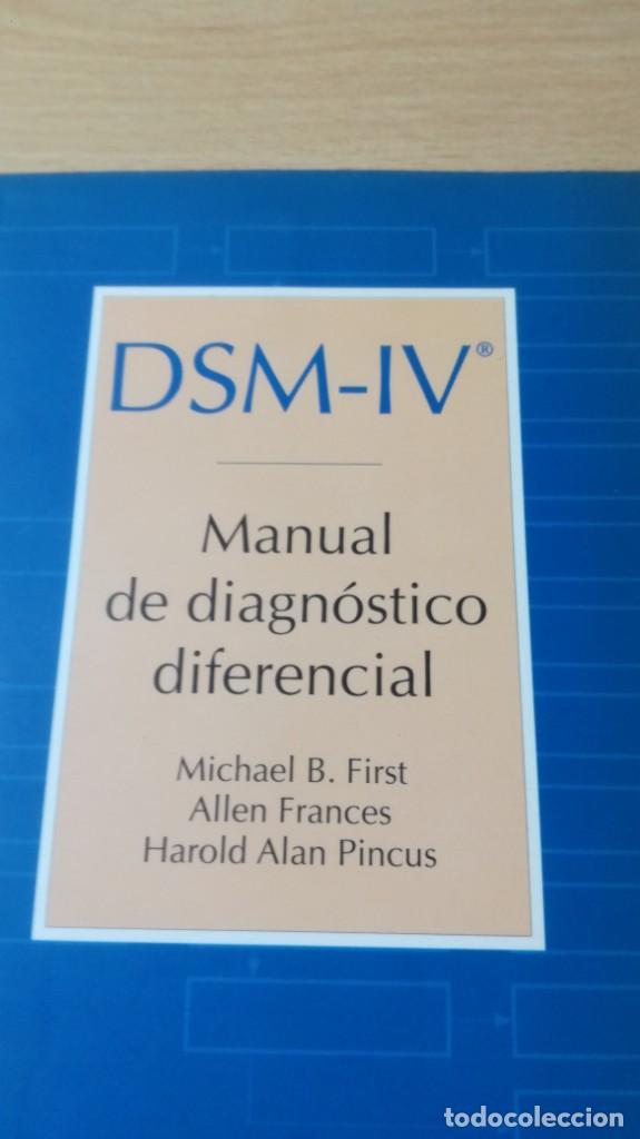 Libros de segunda mano: MANUAL DE DIAGNOSTICO DIFERENCIAL - DSM - IV -MASSONPSIQUIATRIAK505 - Foto 3 - 195386382