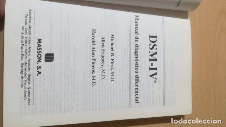 Libros de segunda mano: MANUAL DE DIAGNOSTICO DIFERENCIAL - DSM - IV -MASSONPSIQUIATRIAK505 - Foto 4 - 195386382
