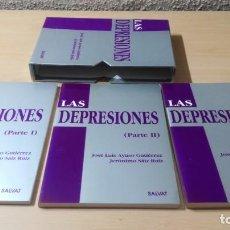 Libros de segunda mano: LAS DEPRESIONES - J AYUSO GUTIERREZ - J SAIZ RUIZ - 3 TOMOS EN ESTSUCHE SALVATPSIQUIATRIAK604. Lote 195408693