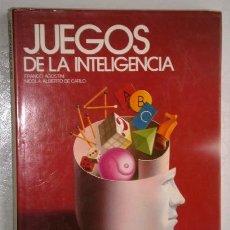 Libros de segunda mano: JUEGOS DE LA INTELIGENCIA POR AGOSTINI Y DE CARLO DE CÍRCULO DE LECTORES EN BARCELONA 1984. Lote 195434295