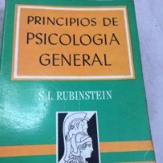 Libros de segunda mano: PRINCIPIOS DE PSICOLOGÍA GENERAL, POR S. L. RUBINSTEIN, MANUALES GRIJALBO 1967. Lote 195538928