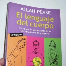 Libros de segunda mano: EL LENGUAJE DEL CUERPO - ALLAN PEASE (PAIDÓS, 2004). Lote 195771938