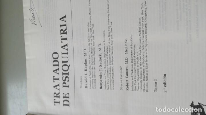 Libros de segunda mano: TRATADO DE PSIQUIATRIA - 2 TOMOS - HAROLD I KAPLAN / BENJAMIN J SADOCK - SALVATZ104 - Foto 7 - 196240828