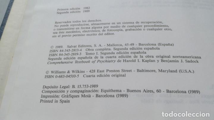 Libros de segunda mano: TRATADO DE PSIQUIATRIA - 2 TOMOS - HAROLD I KAPLAN / BENJAMIN J SADOCK - SALVATZ104 - Foto 9 - 196240828