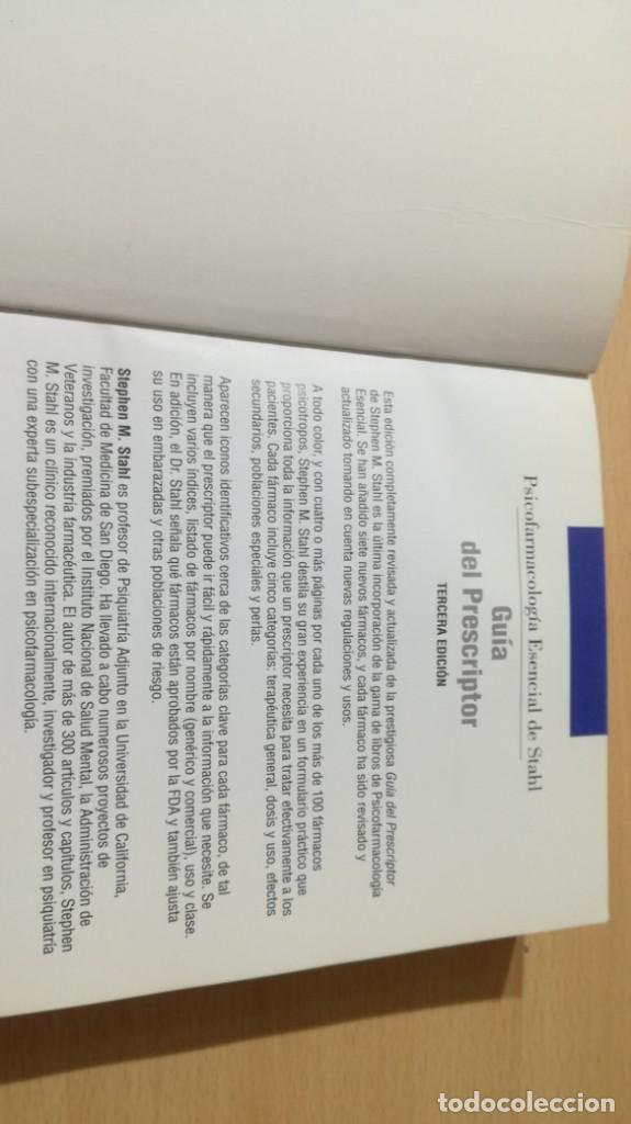 Libros de segunda mano: GUIA DEL PRESCRIPTOR - PSICOFARMACOLOGIA ESENCIAL DE STAHL - AULA MEDICA- PSIQUIATRIALL502 - Foto 6 - 197095338