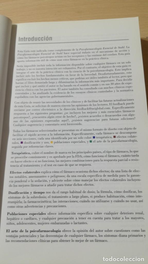 Libros de segunda mano: GUIA DEL PRESCRIPTOR - PSICOFARMACOLOGIA ESENCIAL DE STAHL - AULA MEDICA- PSIQUIATRIALL502 - Foto 11 - 197095338