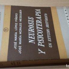 Livros em segunda mão: NEUROSIS Y PSICOTERAPIA UN ESTUDIO HISTORICO - VV AA - ESPASAPSIQUIATRIAÑ401. Lote 198710536