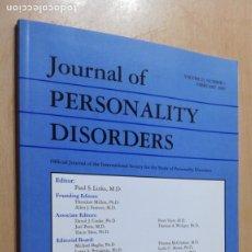 Libros de segunda mano: JOURNAL OF PERSONALITY DISORDERS - EN INGLES - FOTO INDICE - PSIQUIATRIAVOL 23 N 1 2009Ñ-302. Lote 198752571