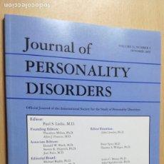 Libros de segunda mano: JOURNAL OF PERSONALITY DISORDERS - EN INGLES - FOTO INDICE - PSIQUIATRIAVOL 23 N 5 2009Ñ-302. Lote 198752627