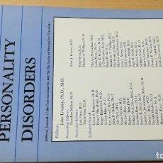 Libros de segunda mano: JOURNAL OF PERSONALITY DISORDERS - EN INGLES - FOTO INDICE - PSIQUIATRIAVOL 10 N 1 1006Ñ-302. Lote 198752653