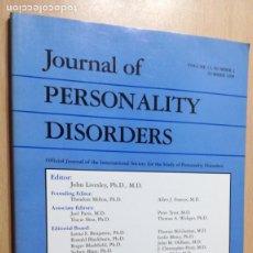 Libros de segunda mano: JOURNAL OF PERSONALITY DISORDERS - EN INGLES - FOTO INDICE - PSIQUIATRIAVOL 13 N 2 1999Ñ-302. Lote 198752691