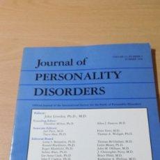 Libros de segunda mano: JOURNAL OF PERSONALITY DISORDERS - EN INGLES - FOTO INDICE - PSIQUIATRIAVOL 12 N 2 1998Ñ-302. Lote 198752763