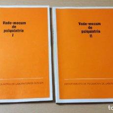 Libros de segunda mano: VADE-MECUN DE PSIQUIATRIA I Y II - LABORATORIOS SERVIERÑ-302. Lote 198753798