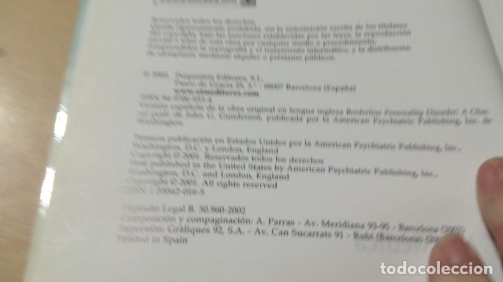 Libros de segunda mano: TRASTORNO LIMITE DE LA PERSONALIDAD - GUIA CLINICA - JOHN GUNDERSONPSIQUIATRIAÓ-204 - Foto 6 - 198769205