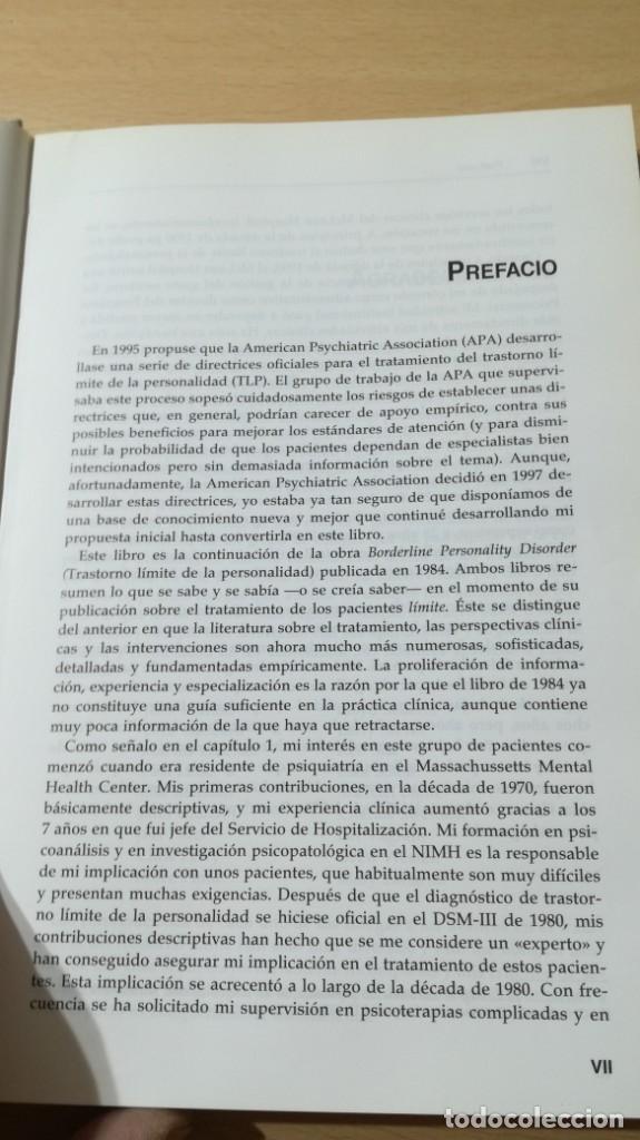 Libros de segunda mano: TRASTORNO LIMITE DE LA PERSONALIDAD - GUIA CLINICA - JOHN GUNDERSONPSIQUIATRIAÓ-204 - Foto 8 - 198769205