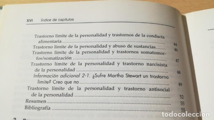 Libros de segunda mano: TRASTORNO LIMITE DE LA PERSONALIDAD - GUIA CLINICA - JOHN GUNDERSONPSIQUIATRIAÓ-204 - Foto 11 - 198769205