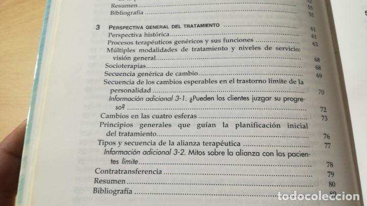 Libros de segunda mano: TRASTORNO LIMITE DE LA PERSONALIDAD - GUIA CLINICA - JOHN GUNDERSONPSIQUIATRIAÓ-204 - Foto 12 - 198769205