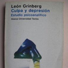 Libros de segunda mano: CULPA Y DEPRESIÓN. ESTUDIO PSICOANALÍTICO.- LEÓN GRINBERG.- ALIANZA UNIVERSIDAD. 1983. Lote 199480331